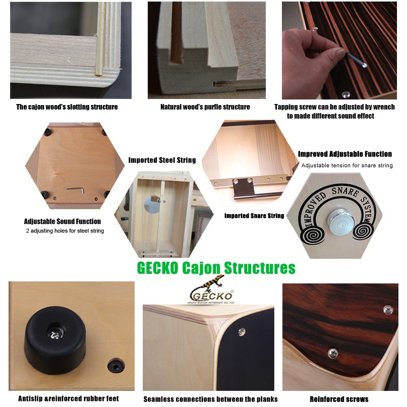 Gecko CS81RD strong rubber base for supporting heavy gecko cajon drum set,small size