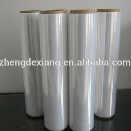 "4 Rolls Clear Hand Pallet Wrap Plastic Stretch Film 18 ""Breed x 1500 Ft. 80 Gauge"