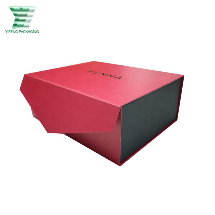 Yifeng new product paper box lid hinged base with extend flap