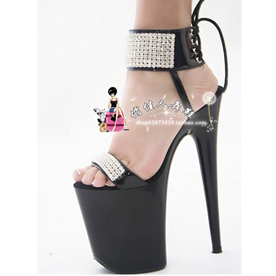 Buy FEI Pole Dancer Clubwear High Heels Shoes Black PU Cut