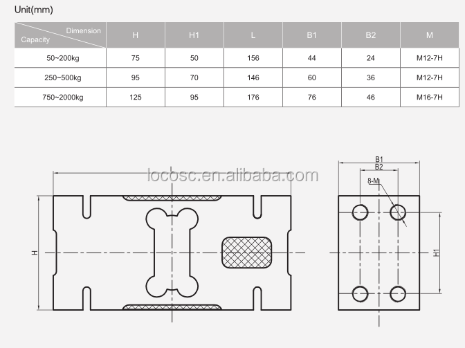 Chinese Industry Alloy Steel Bench Scale Check Weighing Load Cell, 50Kg Single Point Load Cell