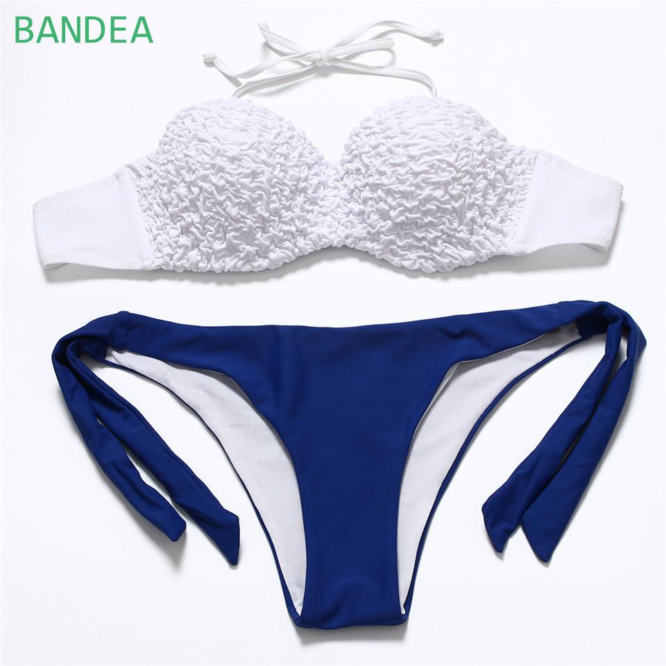 6b17798d2 BANDEA 2016 Summer Style Women Brazilian Vintage Maillot de bain Halter Bikini  Set Push Up Swimwear