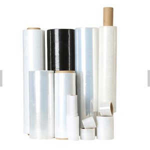 Transparent Pallet PE Stretch Film Shrink Wrapping Roll Shipping Clear Plastic Wrap