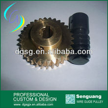 Tin bronze worm gear and worm,copper brass worm gear
