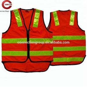 HVW101 Safety Reflective Fluorescent Hivis Men Work Vest with Tail