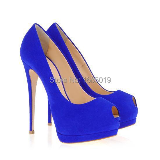 Cheap Blau Suede Peep Toe Pumps, find Blau Suede Peep Toe Toe Peep Pumps 68b34d