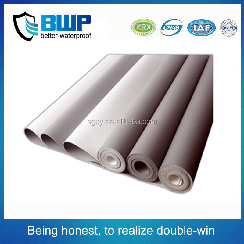 1.5mm PVC hot-air application watertight membrane sheet rolls