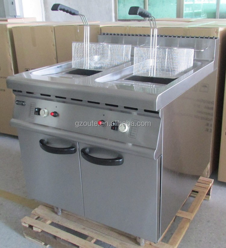 Commercial Chicken Double Tank 40 Litre Lpg Gas Deep Fryer