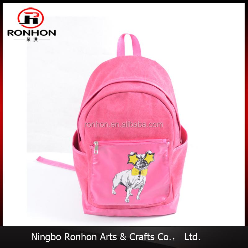 71cfdeb3b4 china manufacturer canvas pink puppy printed kids backpack mochila infatil  school bag