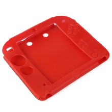 HOT New Silicone Protective Rubber bumper Gel Skin Soft Case Cover for Nintendo 2DS Red Soft Shell