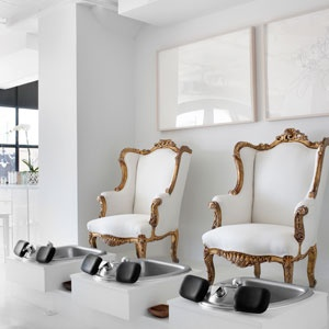 Ds s410 luxury pedicure sofa chair for nail spa or other for Luxury beauty salon furniture