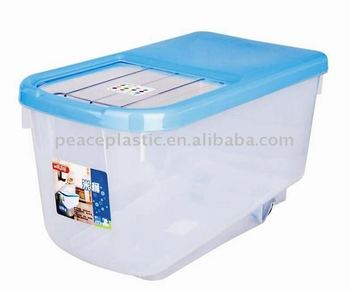 15kg Rice Storage BoxPet Food Storage ContainerPlastic Ocntainer