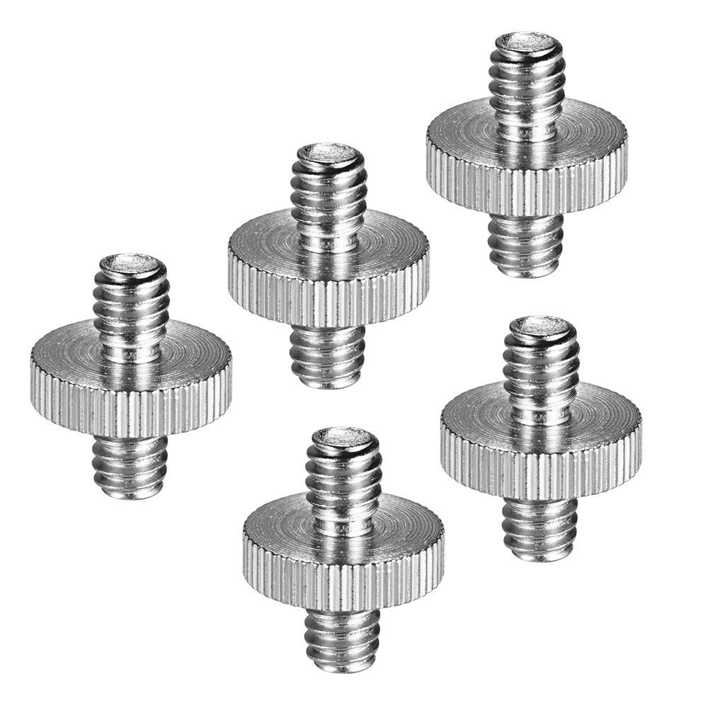 "Walmeck Standard 1/4""-20 Male to 1/4""-20 Male Threaded Tripod Screw 3/8""-16 to 1/4""-20 Male to Male Screw Adapter for Standard Tripod Mounting Thread Camera Screw Adapter Converter"