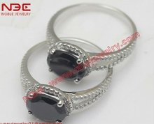 Hot sale dark cz oval center factory artisan handcrafted light weight brand new design wholesale 925 silver party ring jewelry