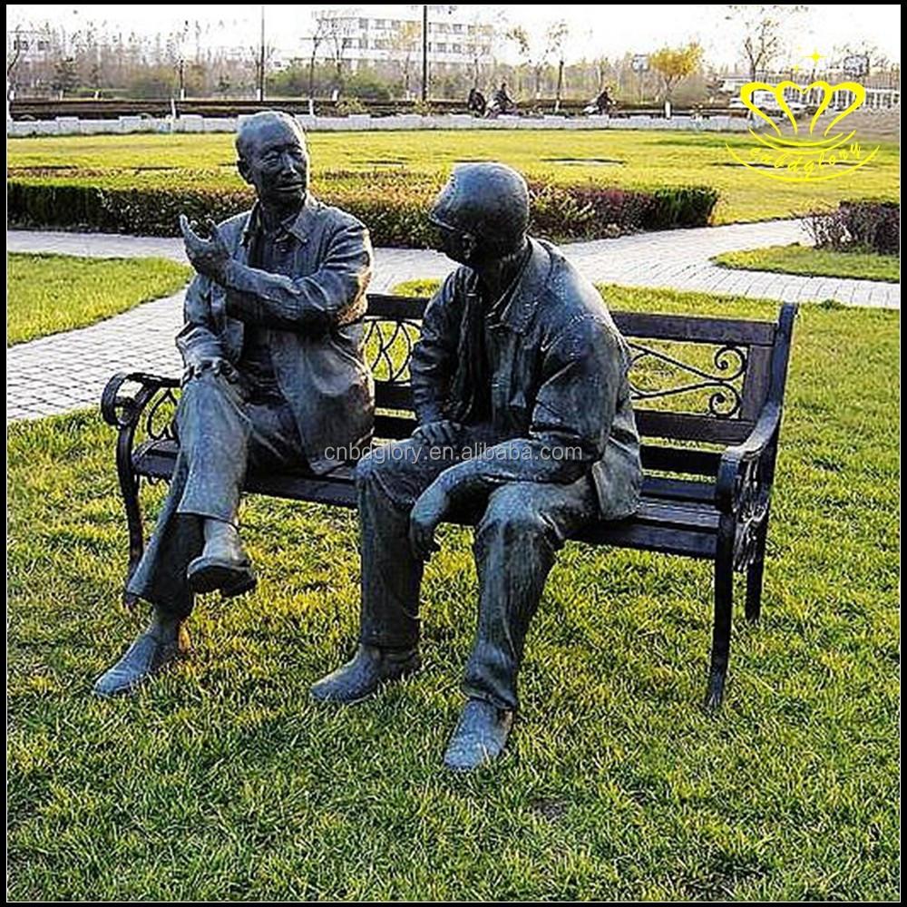 ext rieure bronze art sculpture vie taille personne statue. Black Bedroom Furniture Sets. Home Design Ideas