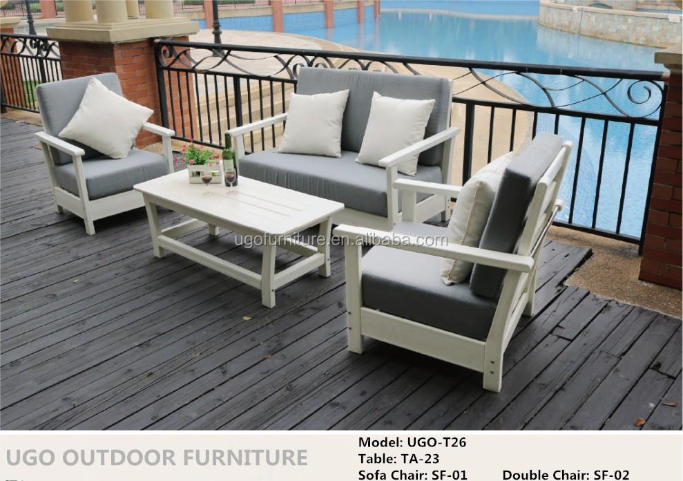 Star Hotel Luxury Garden Wpc Sofa Set Patio Lounger