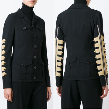 uniform style honour formal black blazer woman new design military