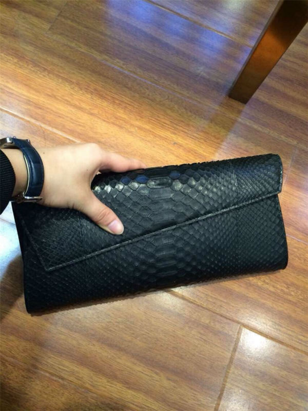 OEM ODM Real Luxury Ladies Python Clutch Evening Bags Purse Wholesale