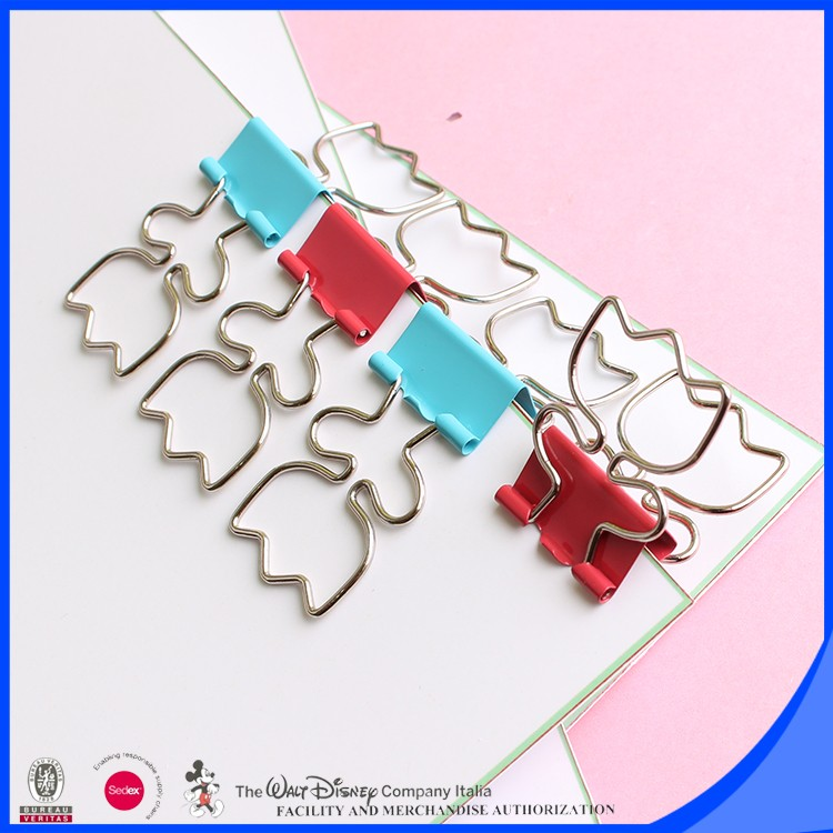 Metal notebook binder clip flower shape
