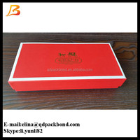 Eco custom made fancy paper gift packaging box with golden foil logo