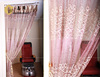 stylish embroidered sheer voile curtain fabric for hotels/residences