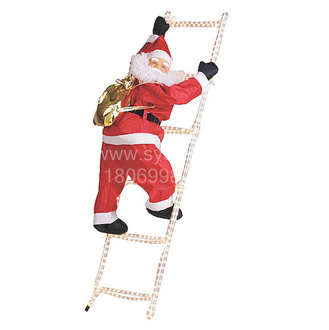 Hot Sale 90cm Christmas Climbing Ladder Santa Claus