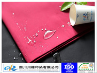 polyester/cotton material water oil resistant fabric
