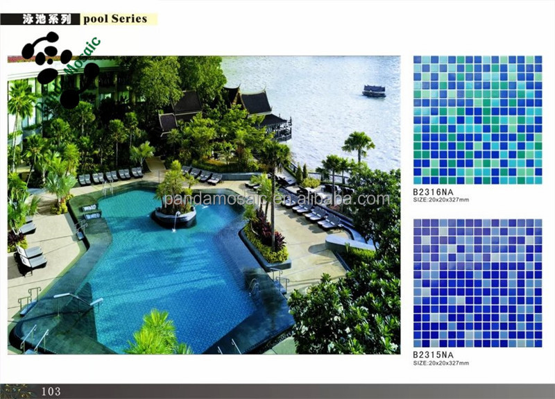 Mb Scenery Aminal Flower Design Mosaic Pattern Tile Swimming Pool ...