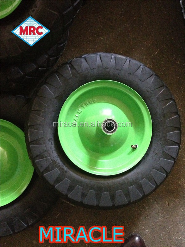 wheel barrow solid rubber wheel 4.00-8