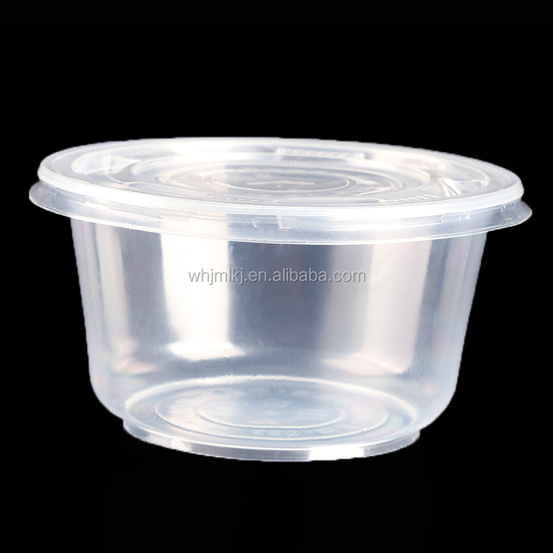 850ml clear disposable plastic pp food storage container lunch box