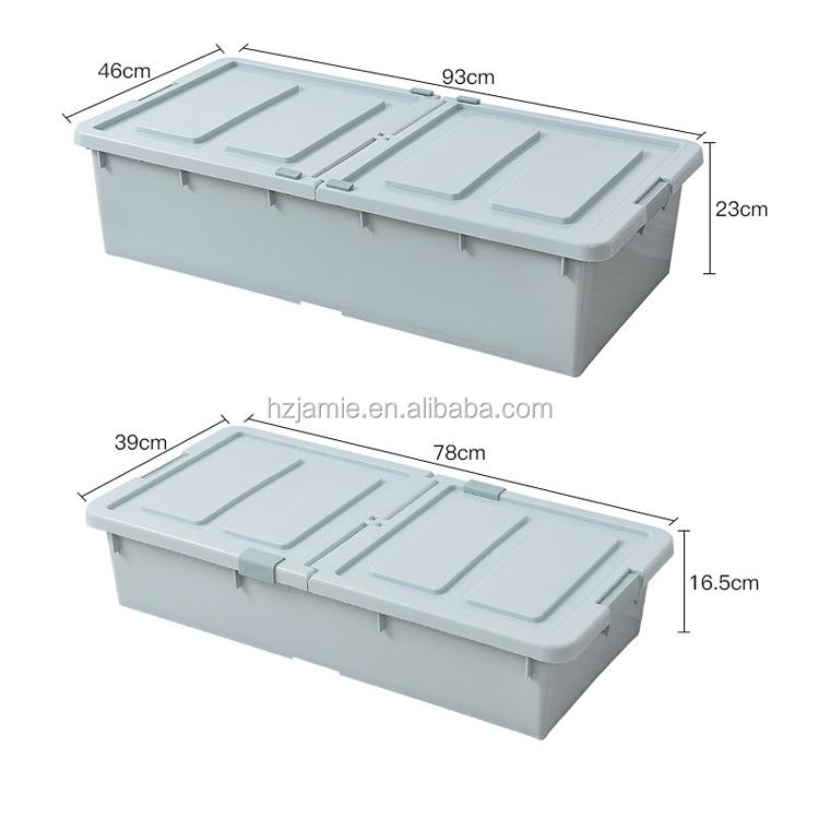 Stackable Plastic Underbed Storage Bins
