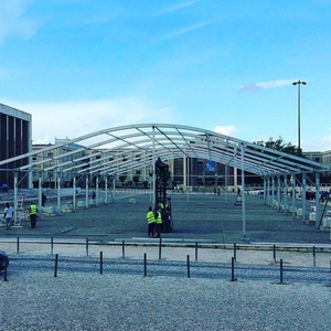 12m Span Arcum Tent As Reception Hall For Sport Event With ABS Wall And Glass Wall