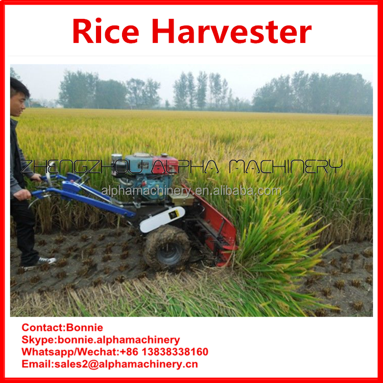 Simple operation paddy field farming machine Popular factory price rice harvest machine