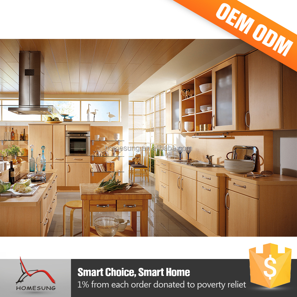 2016 Luxe keuken ontwerpen massief houten keukenkast-keuken kasten ...