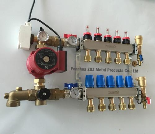 Underfloor Heating Temperature Settings: Underfloor Heating Manifold Pump Mixing Valve Assembly