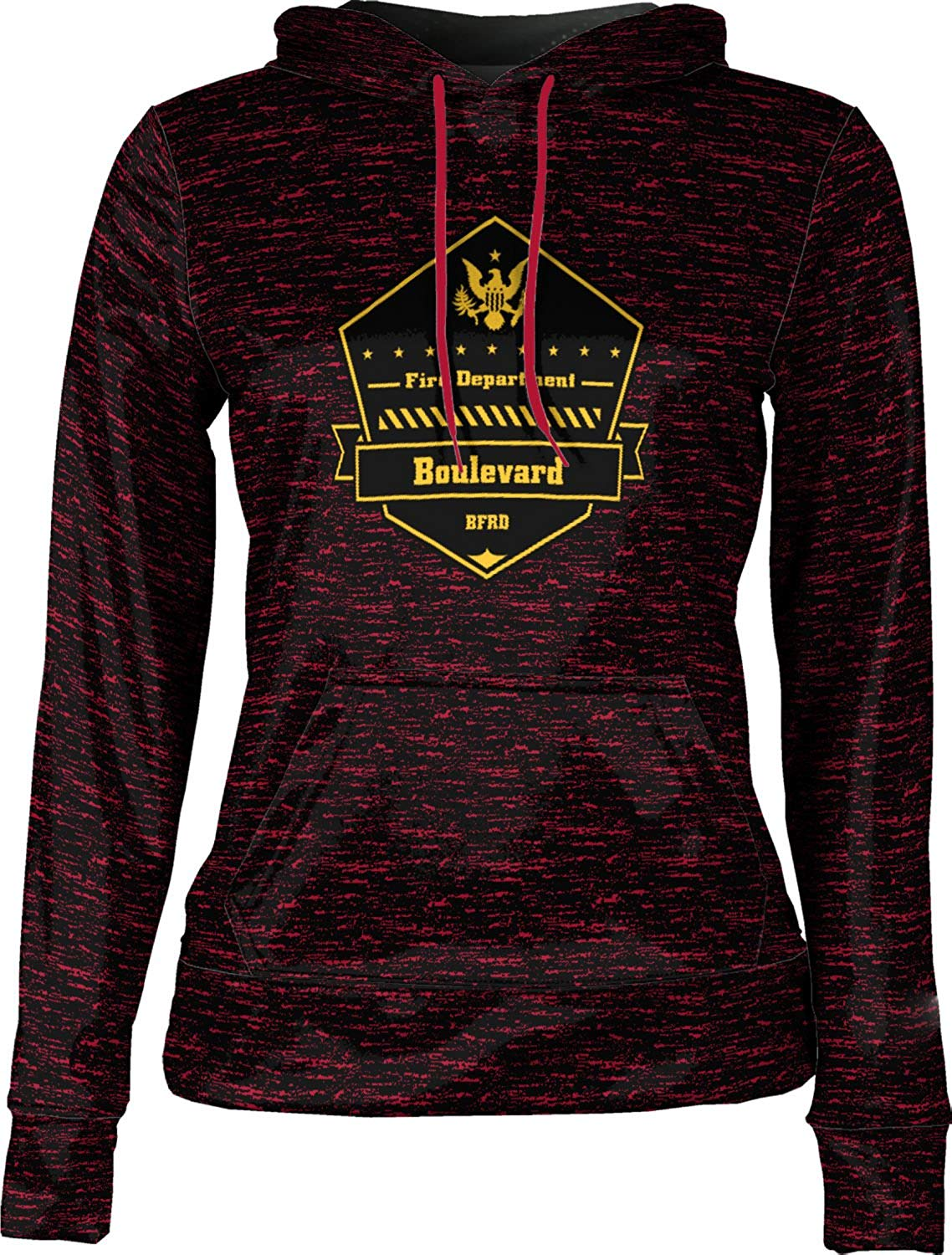 ProSphere Girls' Boulevard Fire and Rescue Department Fire Department Brushed Hoodie Sweatshirt