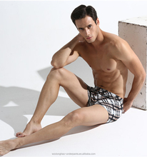 Factory provided custom male stripe satin boxer shorts men