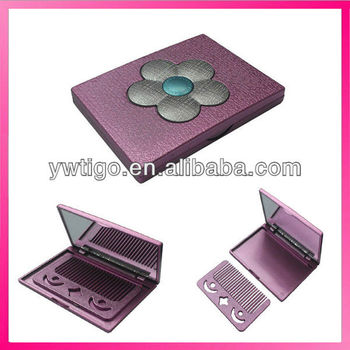 Plastic Folding Compact Mirror With Comb Buy Folding