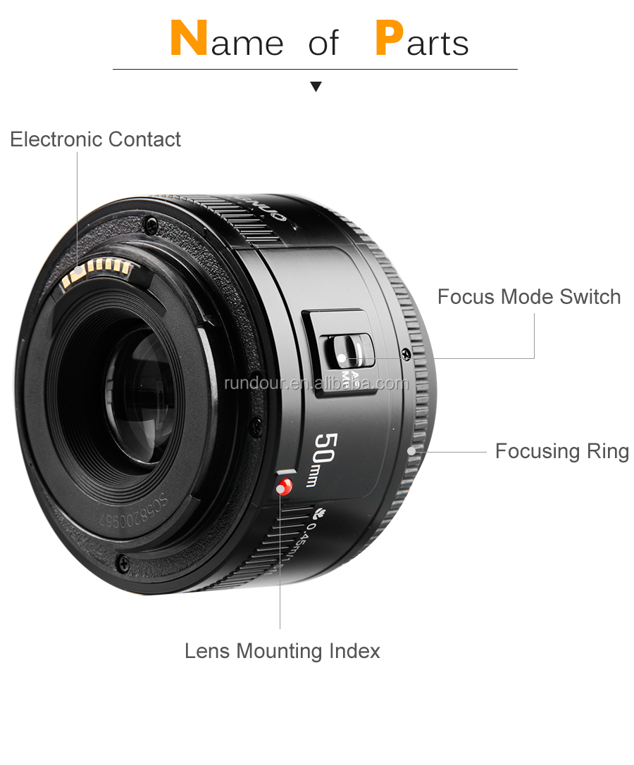YONGNUO YN 50mm F1.8 Lens Large Aperture Auto Focus Lens 50mm/f1.8 for Canon EOS DSLR Cameras