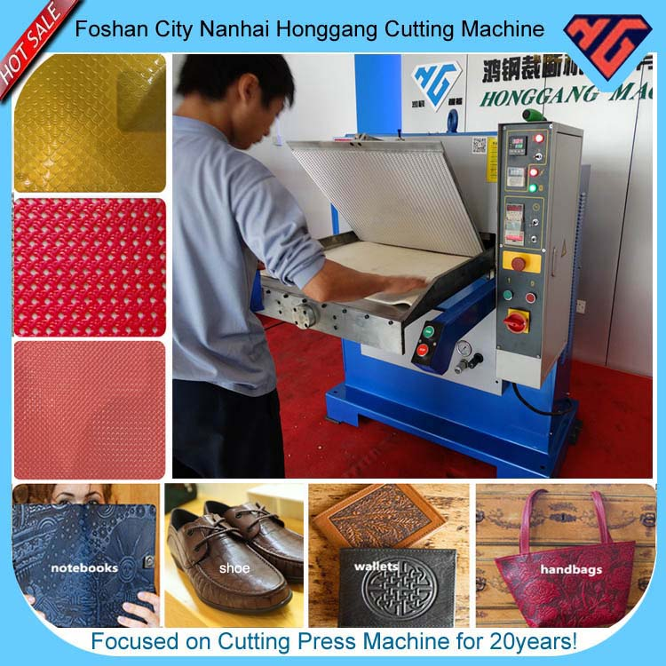auto feeding hydraulic Plane leather plating embossing machine