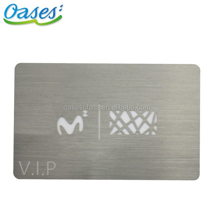 Cheap 304 stainless steel metal card / metal business card