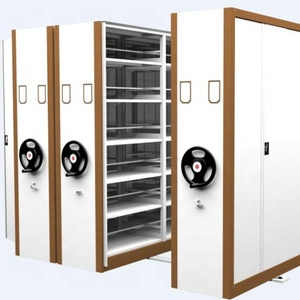 Double side mechanical mobile shelving filing storage cabinet