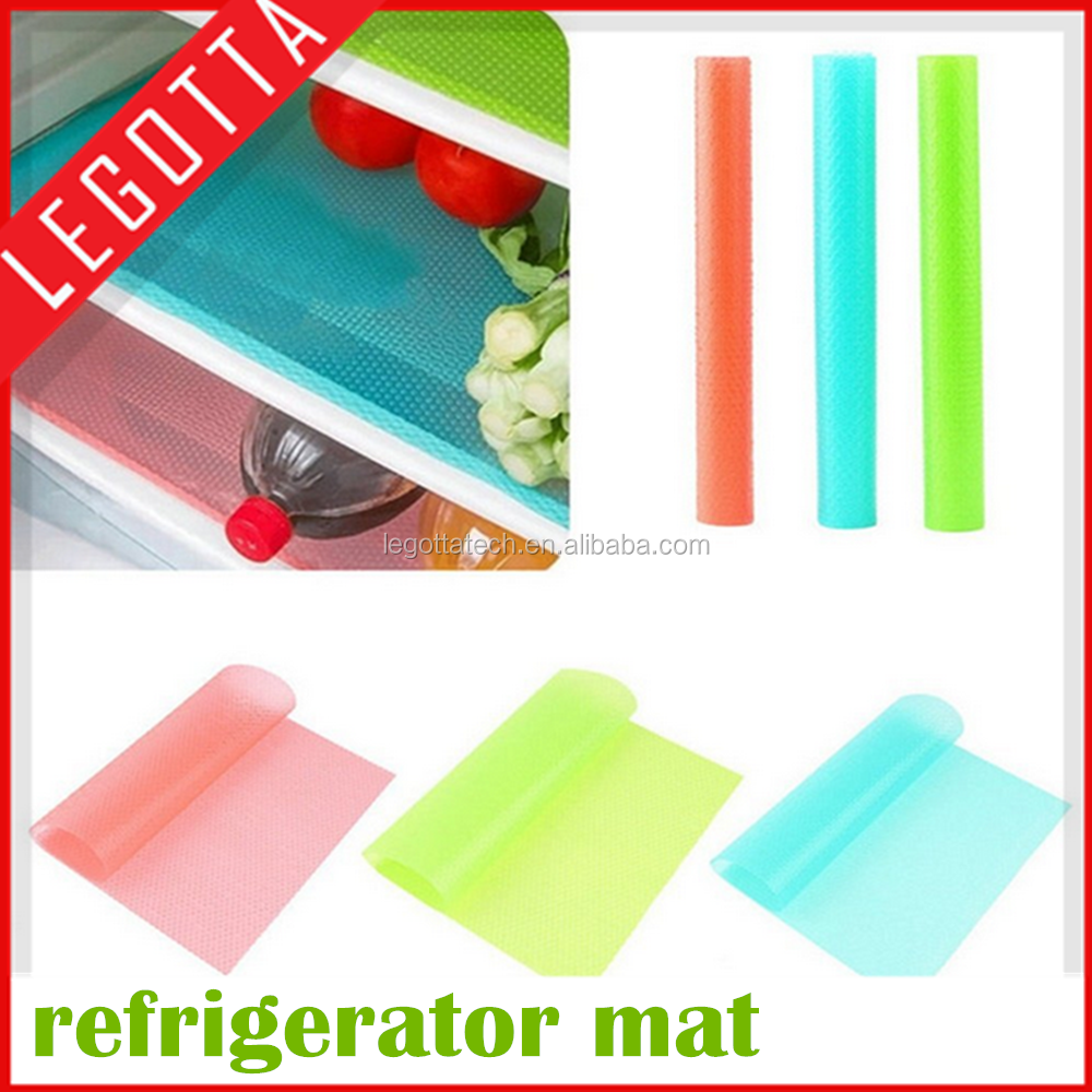 OEM available 4pcs non-toxic flexible cheap price silicone fridge mat