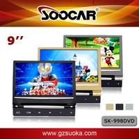 Cheap 9 inch Car Headrest Monitor Slim HD Digital Touch Screen DVD Player USB SD IR FM Game back seats Passenger Media
