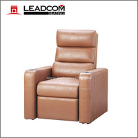 LEADCOM luxury leather electric theater recliner (LS-818)