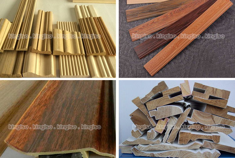BF300A wood pvc foil for profile wrapping machine