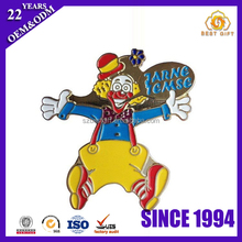Hot Sale Iron Stamping Colorful Painting Funny Clown lapel pins