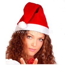 2017 cheap promotional custom lovely christmas party gift craft decoration adult children red santa claus hat