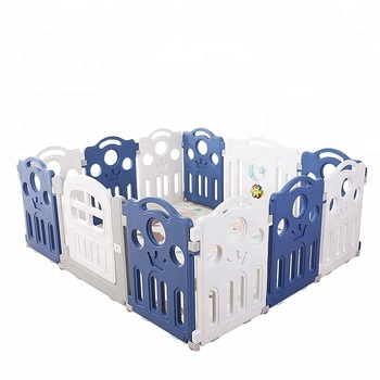 removable indoor playground PE playpen baby plastic  play fence with best quality