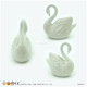 Wholesale Flocking Table Top Decorative Swan Ornament